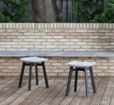 Eco-concrete applied to furniture: Emeco and Nendo